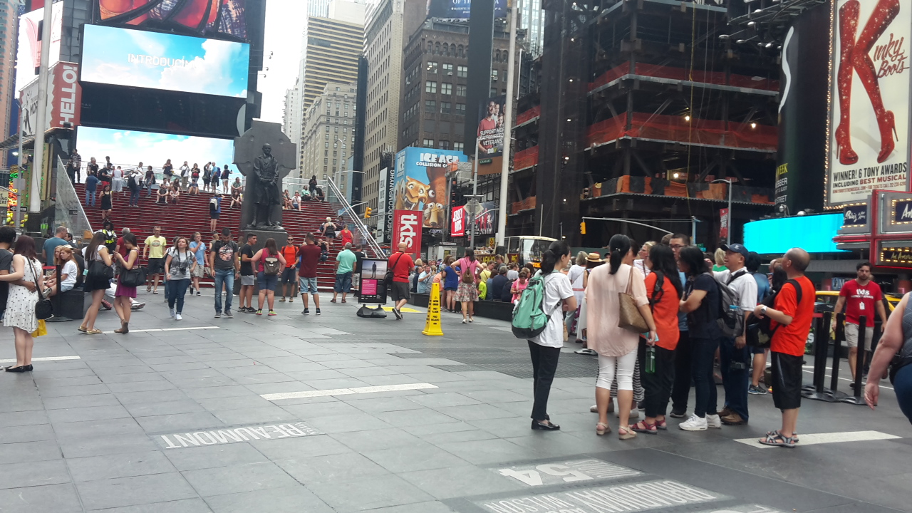 The TKTS booth at Times Square