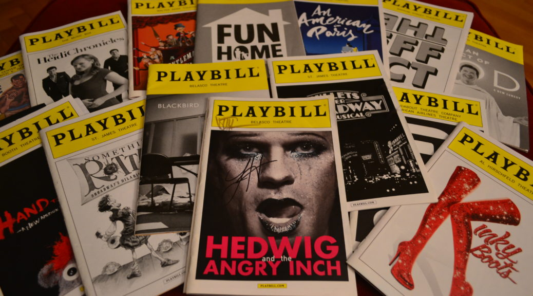 Just a few Playbills I had lying around...