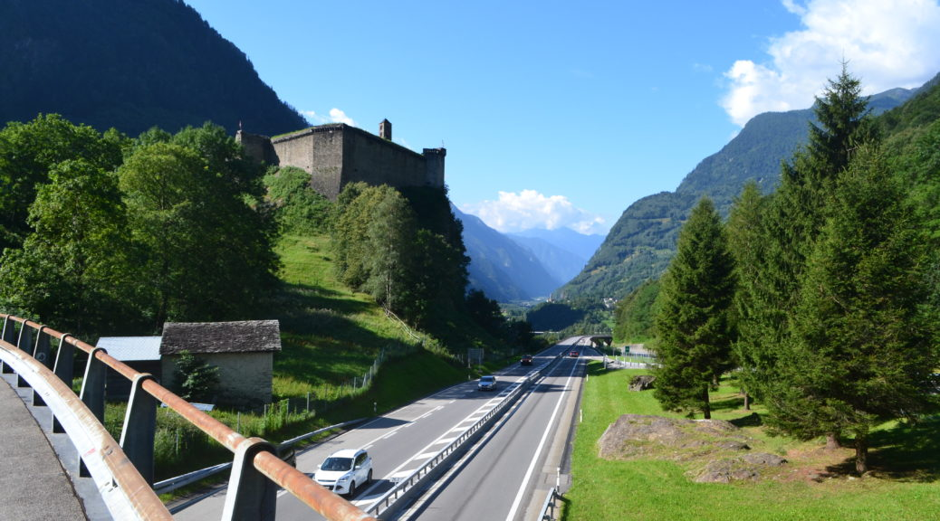 The Mesocco castle in Switzerland, a great road trip find - I saw it from the highway and visited on an impulse
