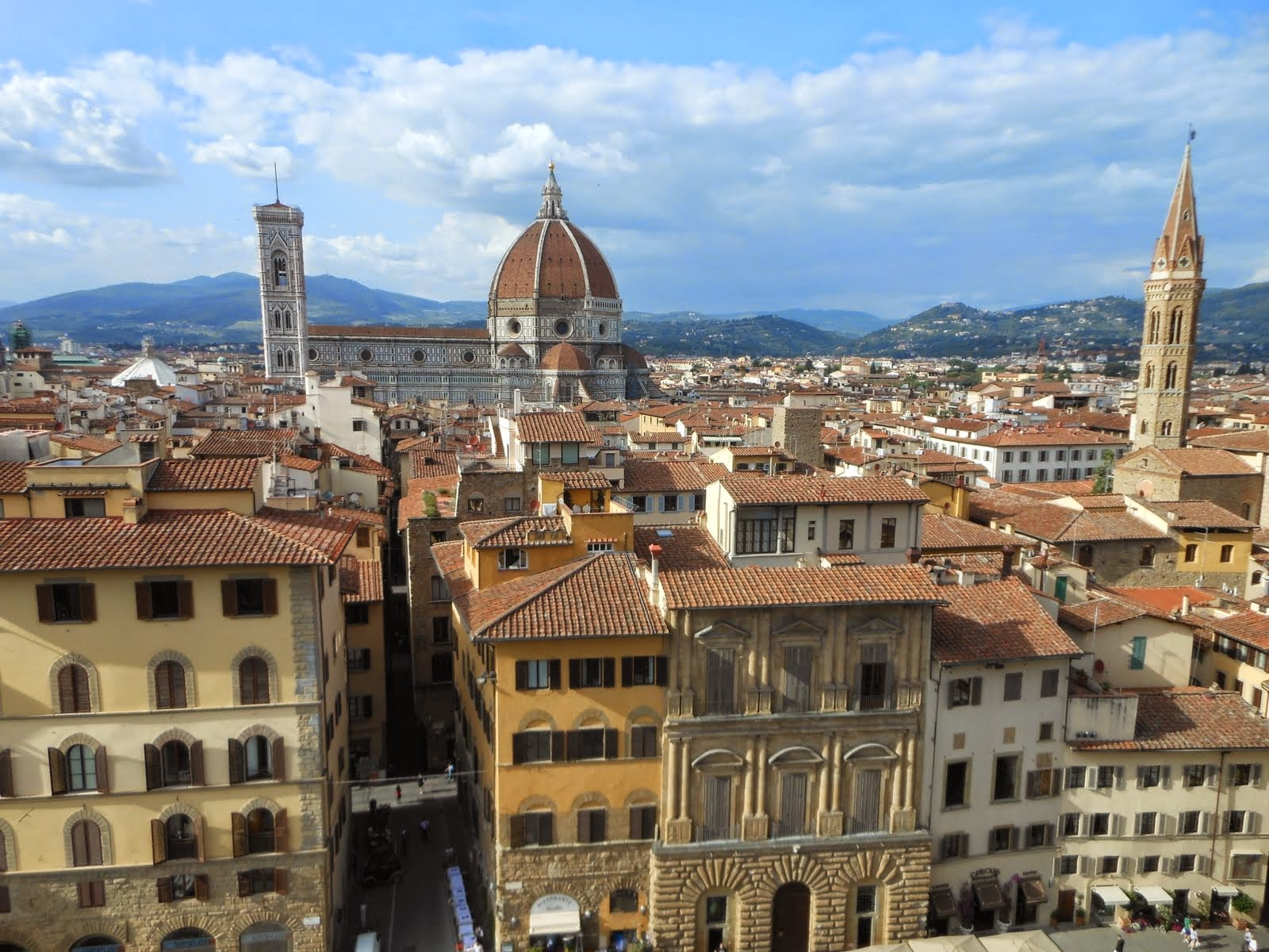 View along the climb up the Palazzo Vecchio tower