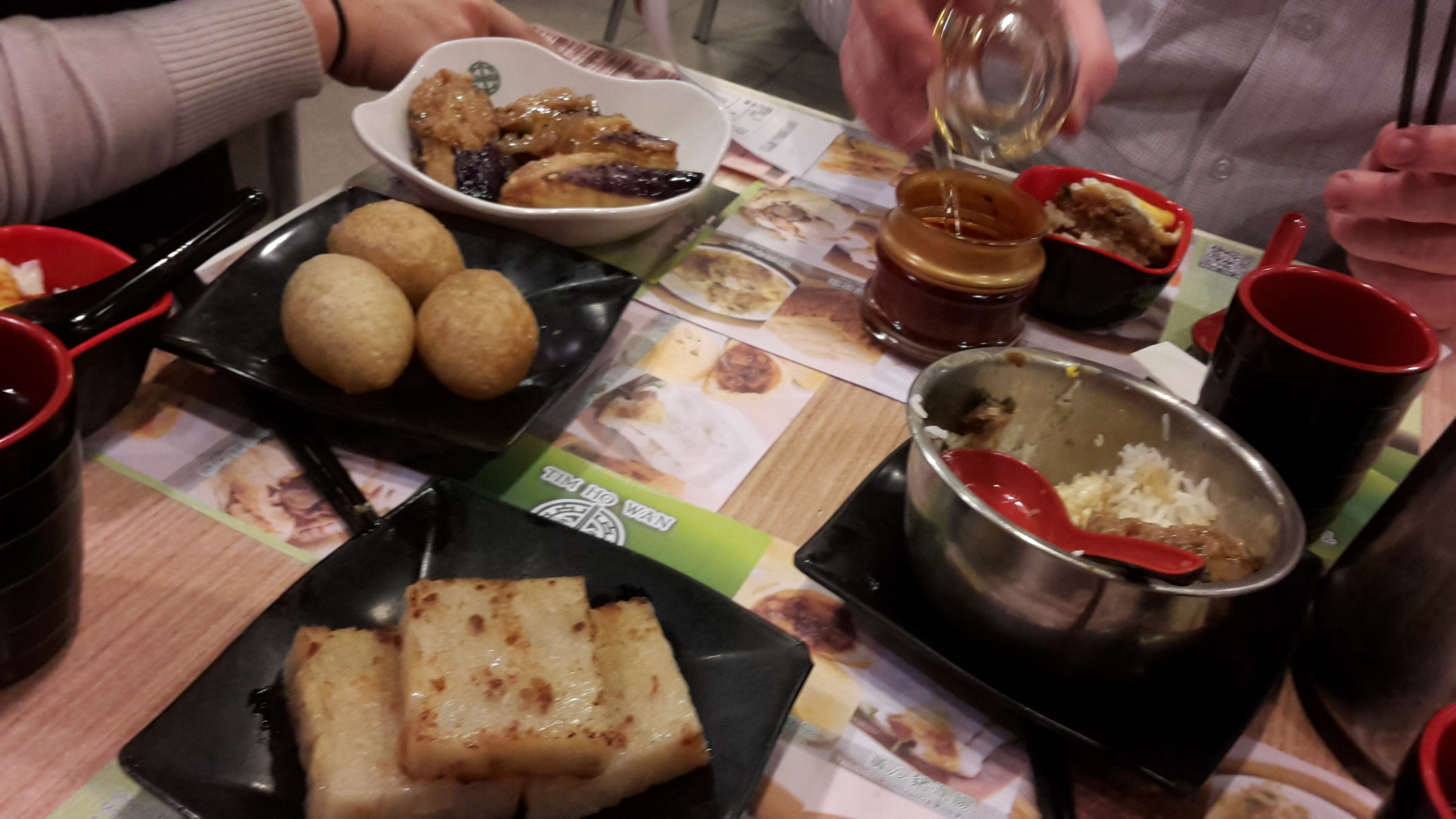 Spread at Hong Kong's Tim Ho Wan, at the time the cheapest Michelin-starred restaurant in the world