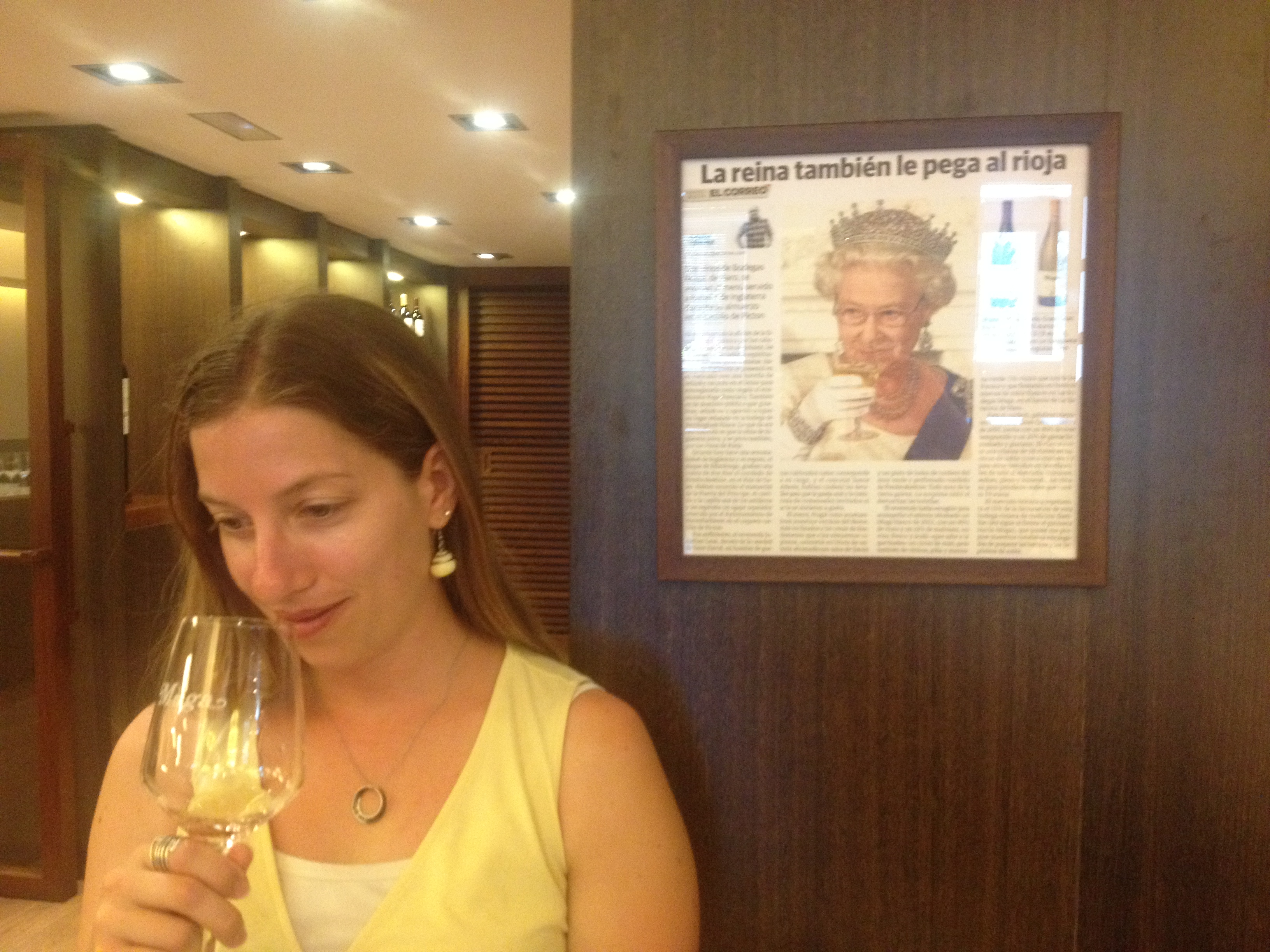 "Wine tasting ""with"" the Queen"