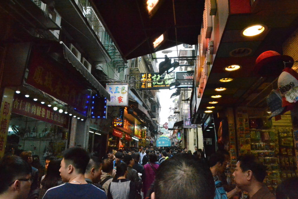 One of the Macau market streets