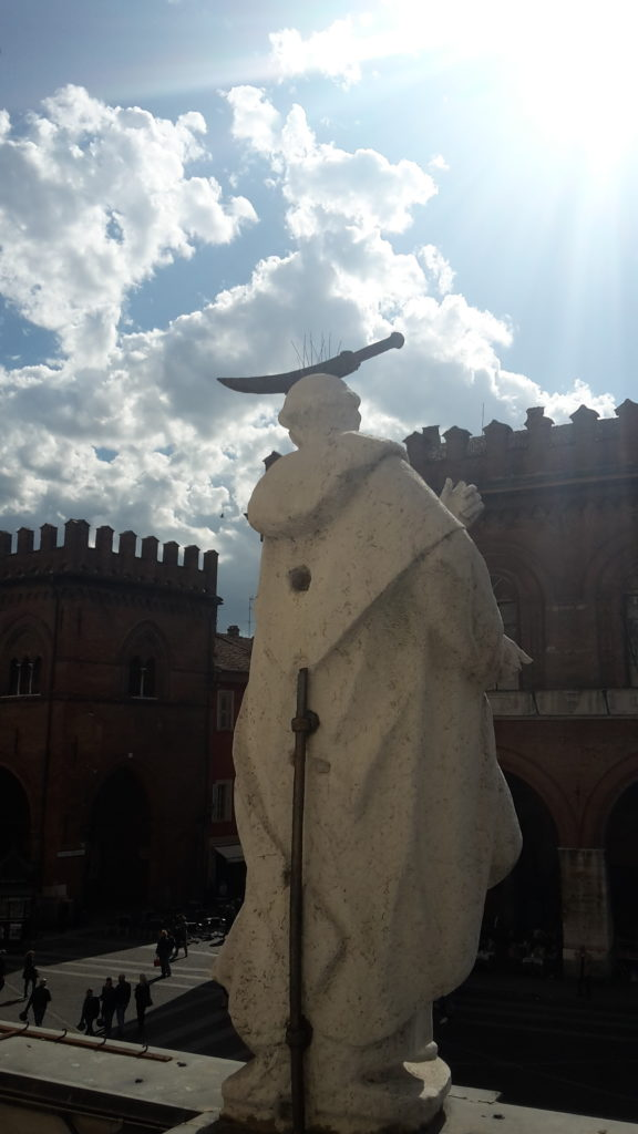 Bell Tower Statue Cremona Italy 20160417_162603