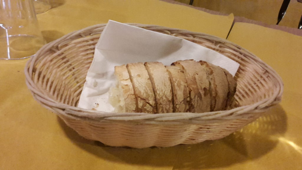 Restaurant Coperto - Cover Charge for Service and Bread 20160928_214458