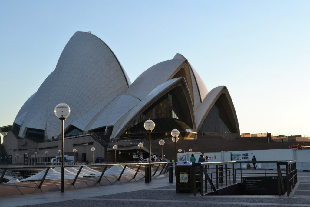 Arriving for our 7am backstage tour at the Sydney Opera House