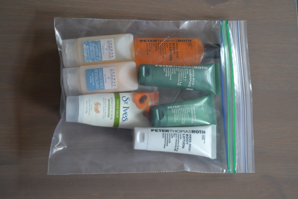 Going There Trip Toiletries Packing Strategy Travel Hack DSC_0498