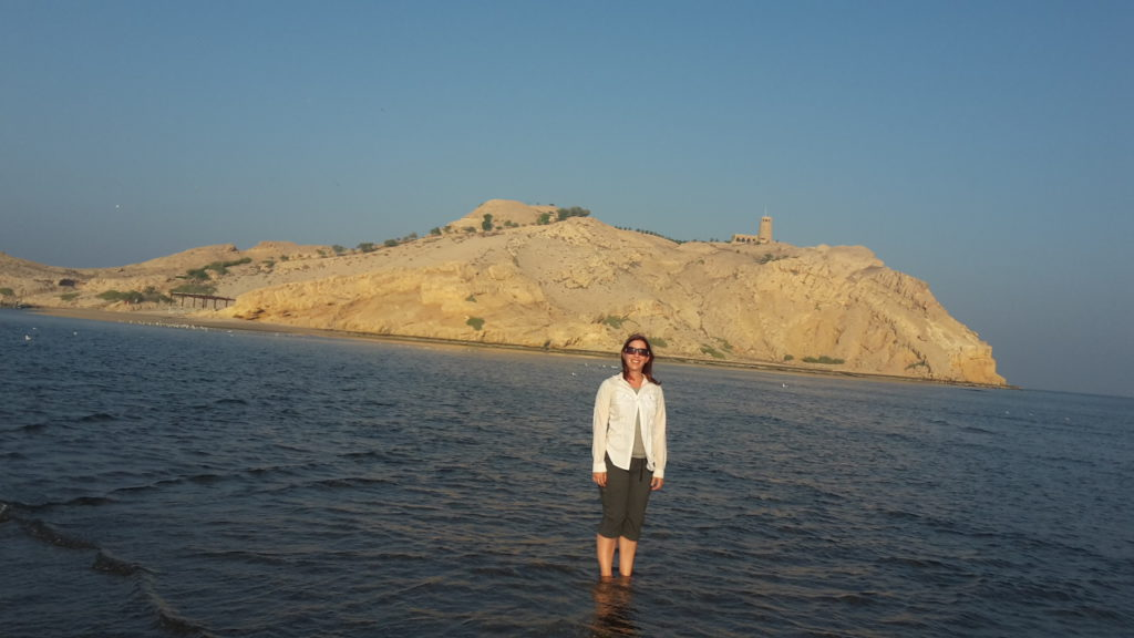 Walking to Sawadi Island, Oman (and staying modest)