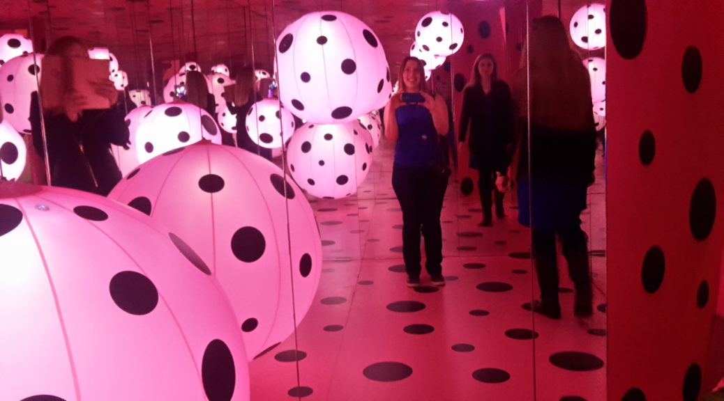 DC Infinity Mirror Room Love Transformed into Dots Kusama Exhibit Hirshhorn Museum Washington DC 20170503_131522