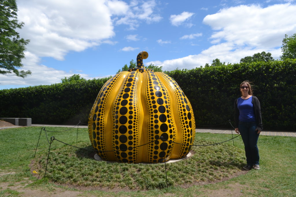 DC Pumpkin Kusama Exhibit Hirshhorn Museum Washington DC US DSC_0254