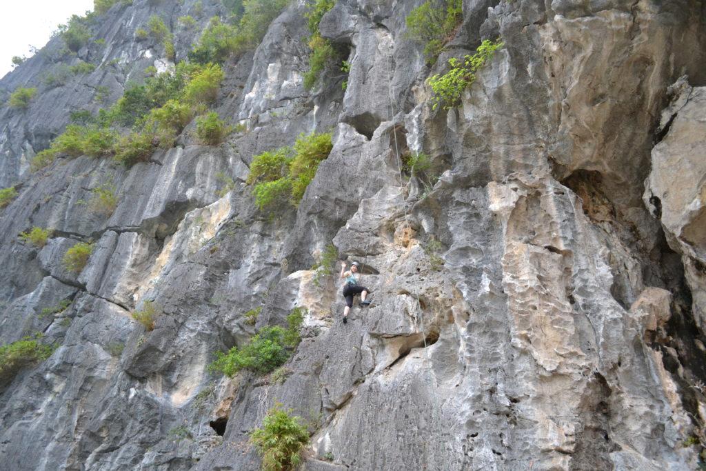 Rock Climbing in Ha Long Bay, Vietnam