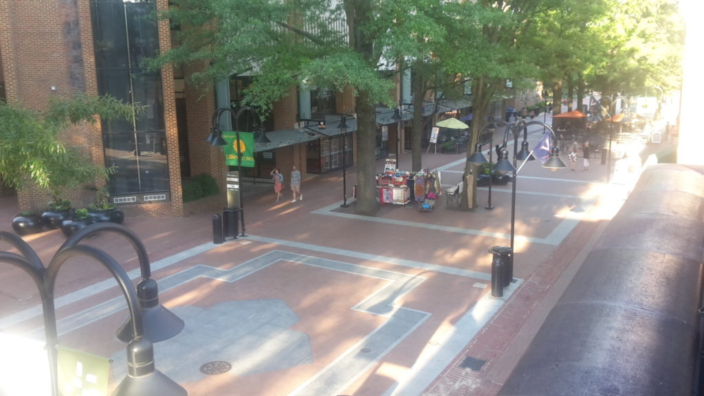 Historic Downtown Pedestrian Mall How to Spend a Weekend in Charlottesville Virginia 20170610_184947
