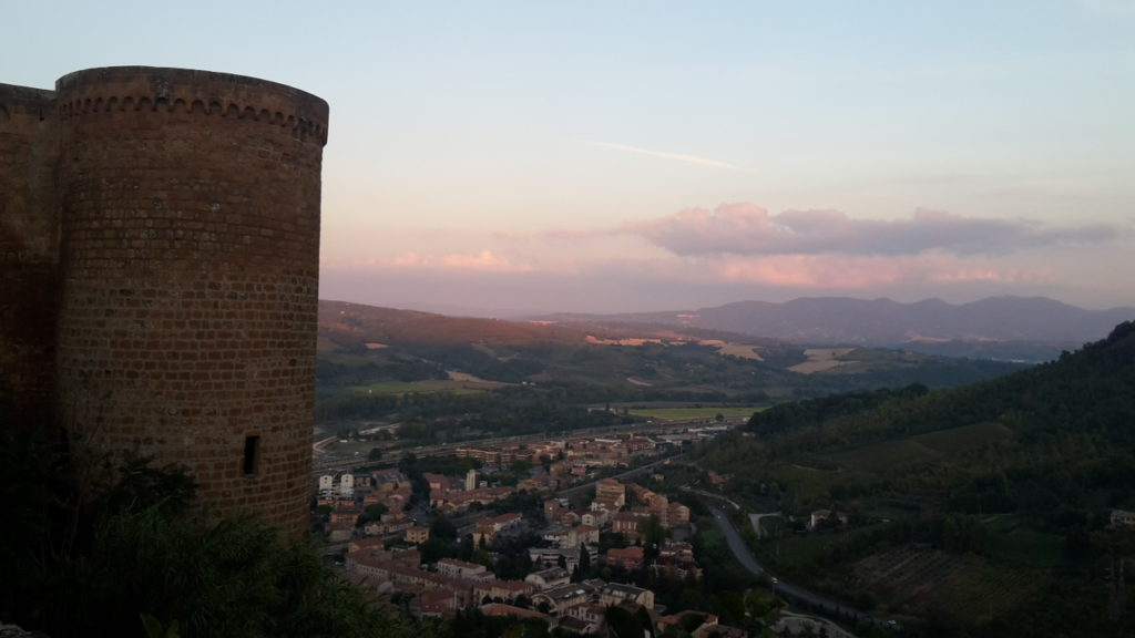 Sunset over Orvieto Italy Day Trip from Rome Top 8 Travel Destinations of 2018 20160930_184317