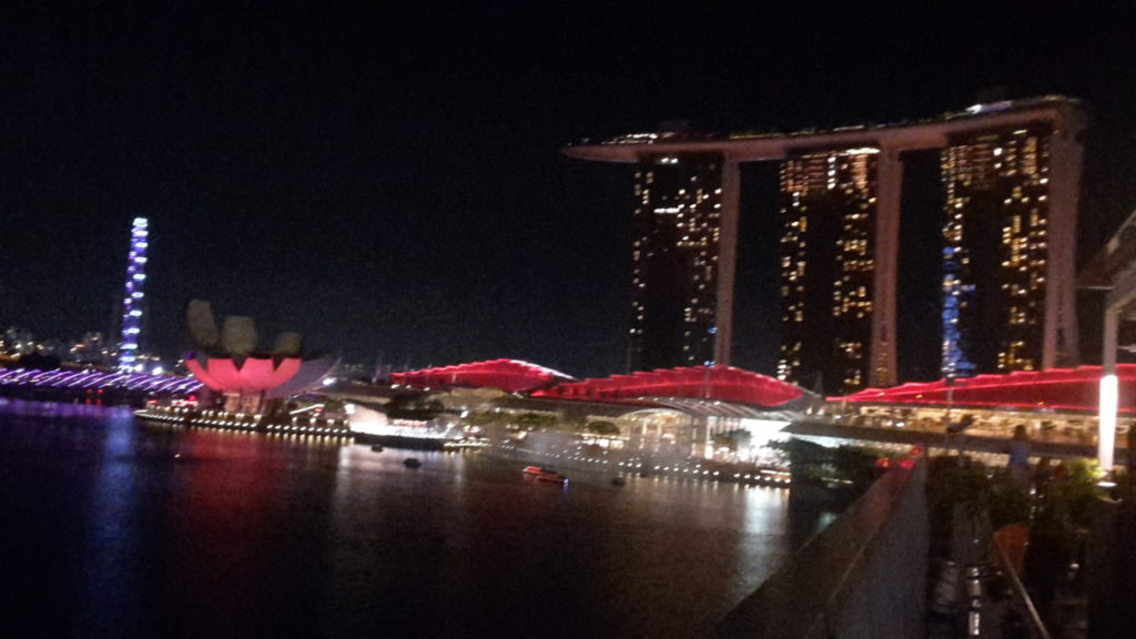 Marina Bay Sands Hotel Singapore Best Light Shows Around the World 20161103_200649